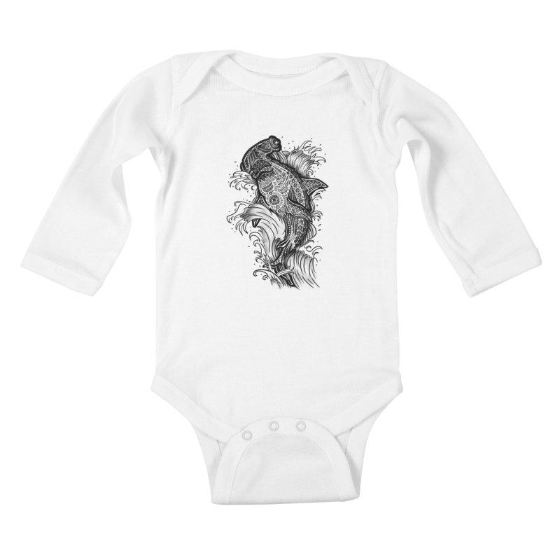Hammerhead Kids Baby Longsleeve Bodysuit by jordan's Artist Shop