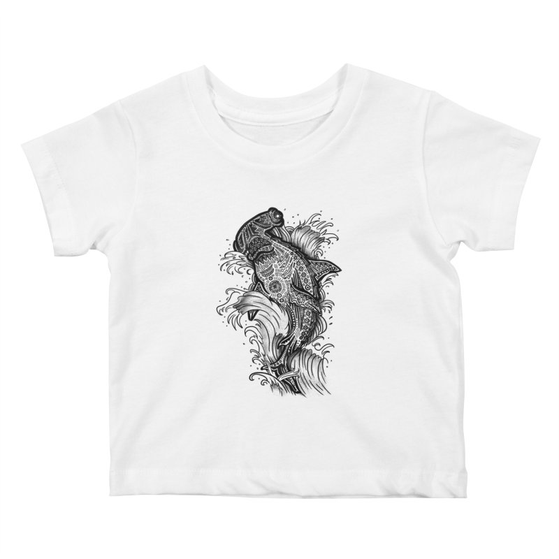 Hammerhead Kids Baby T-Shirt by jordan's Artist Shop
