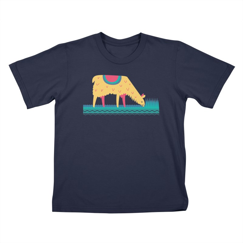 LLamamower Kids T-Shirt by jordan's Artist Shop