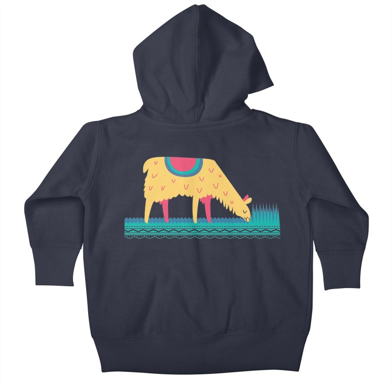 LLamamower Kids Baby Zip-Up Hoody by jordan's Artist Shop