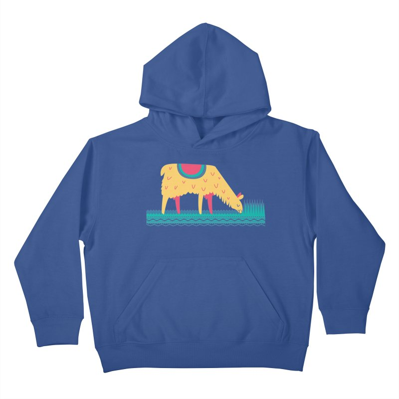 LLamamower Kids Pullover Hoody by jordan's Artist Shop