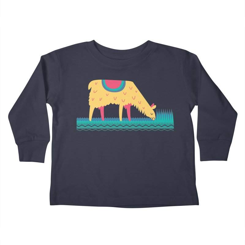 LLamamower Kids Toddler Longsleeve T-Shirt by jordan's Artist Shop