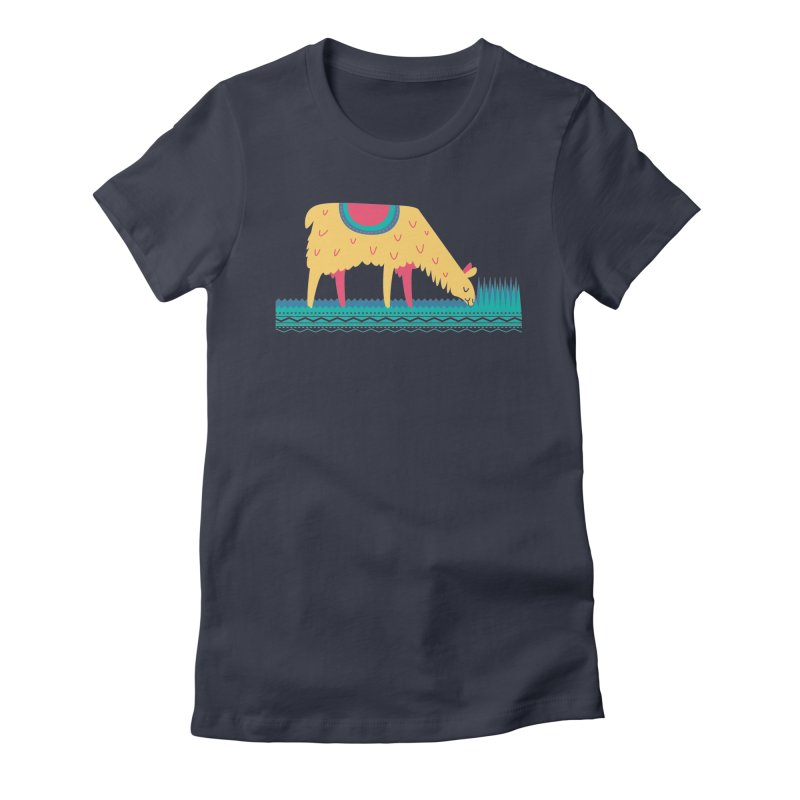 LLamamower Women's Fitted T-Shirt by jordan's Artist Shop