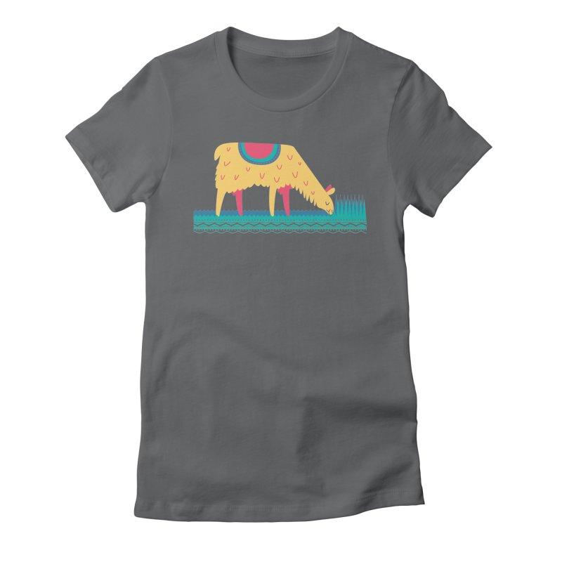LLamamower Women's Fitted T-Shirt by jordan's Artist Shop