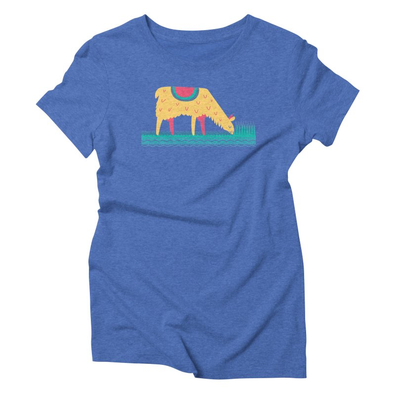 LLamamower Women's Triblend T-Shirt by jordan's Artist Shop