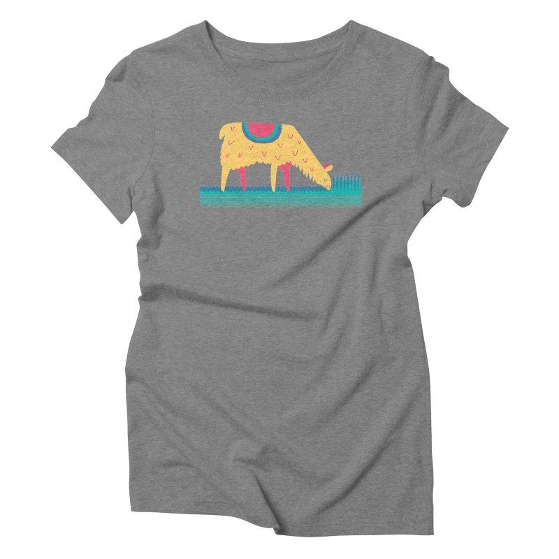 LLamamower Women's Triblend T-Shirt by jordan's Artist Shop
