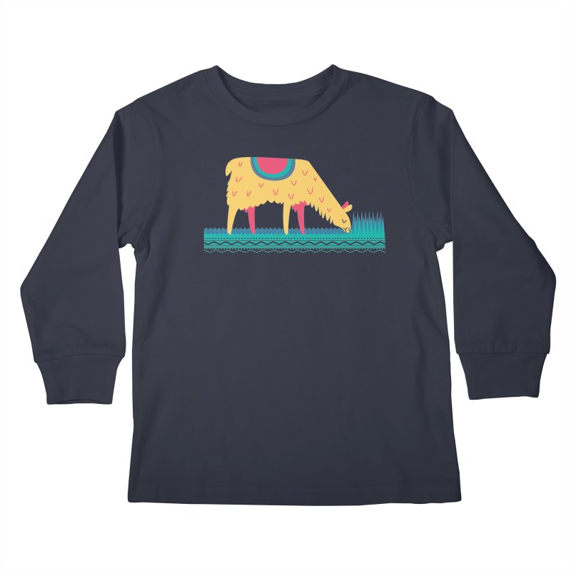 LLamamower Kids Longsleeve T-Shirt by jordan's Artist Shop