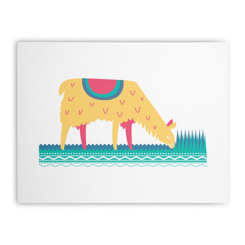 LLamamower Home Stretched Canvas by jordan's Artist Shop