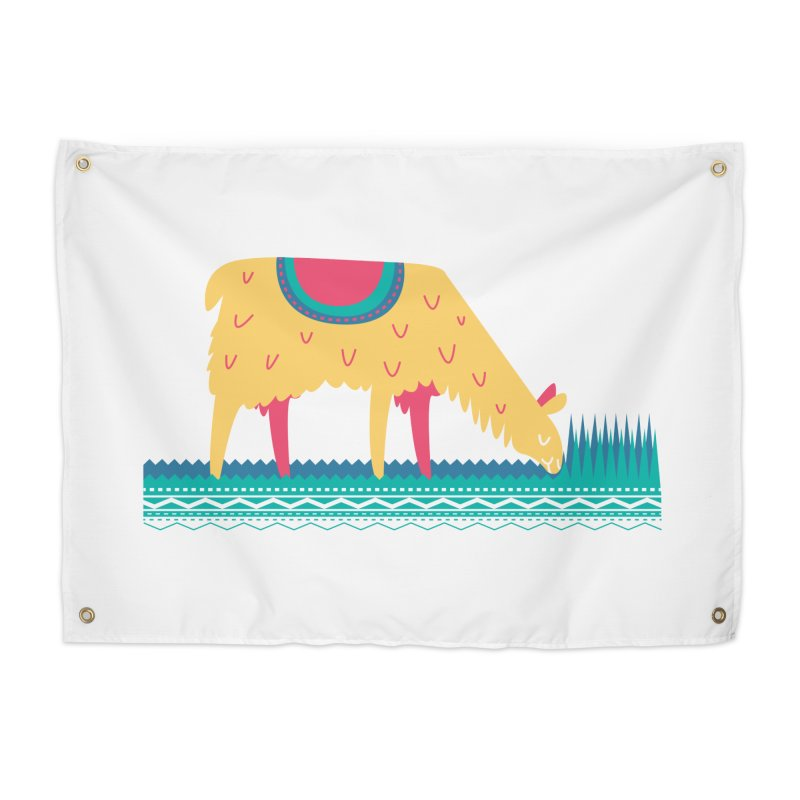 LLamamower Home Tapestry by jordan's Artist Shop