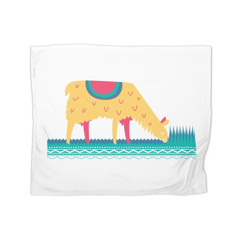 LLamamower Home Fleece Blanket Blanket by jordan's Artist Shop