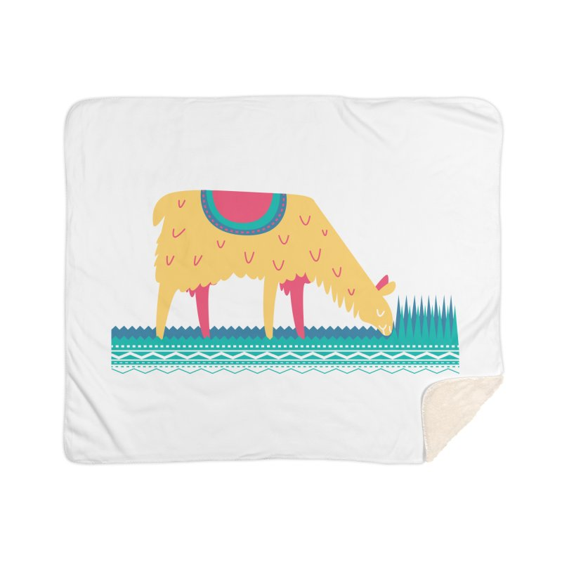 LLamamower Home Sherpa Blanket Blanket by jordan's Artist Shop