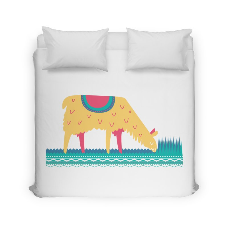 LLamamower Home Duvet by jordan's Artist Shop