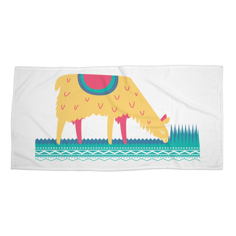 LLamamower Accessories Beach Towel by jordan's Artist Shop
