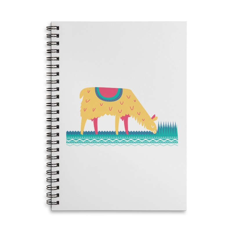 LLamamower Accessories Lined Spiral Notebook by jordan's Artist Shop