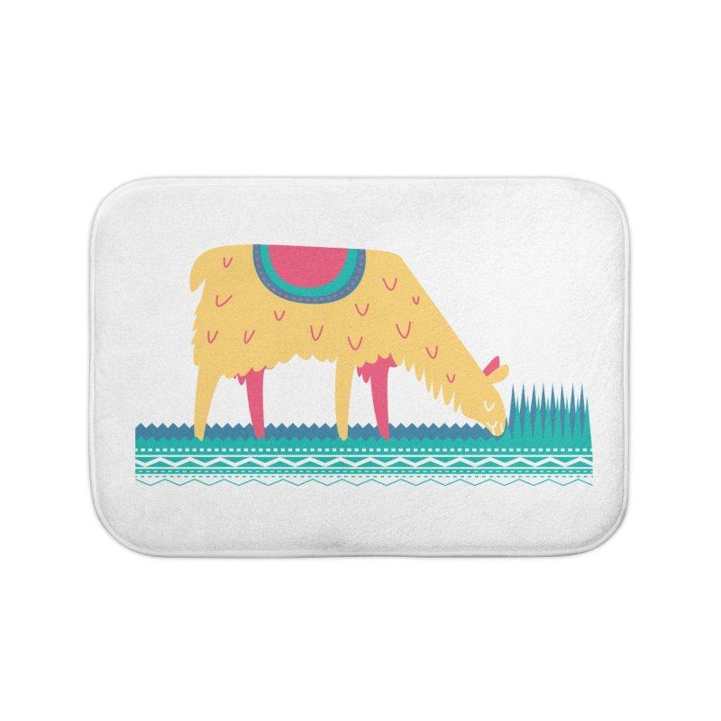 LLamamower Home Bath Mat by jordan's Artist Shop