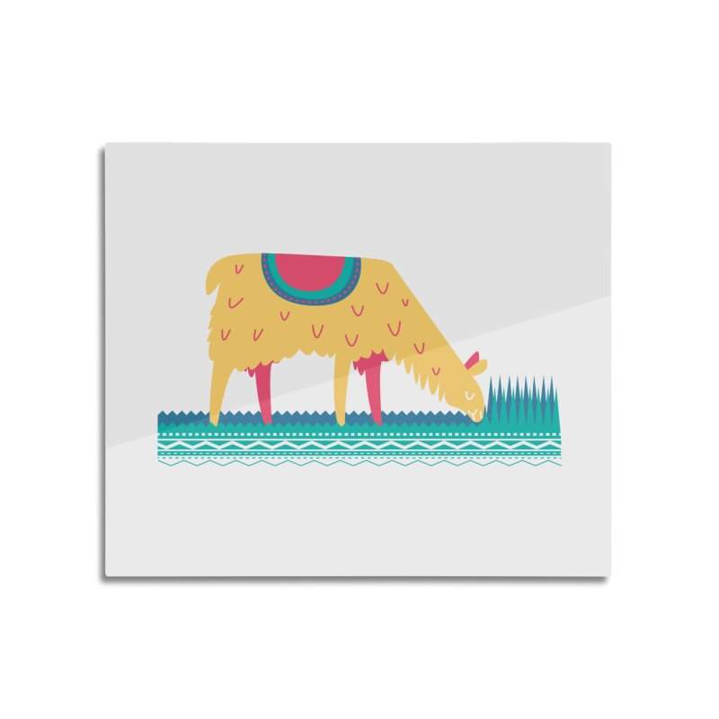 LLamamower Home Mounted Aluminum Print by jordan's Artist Shop