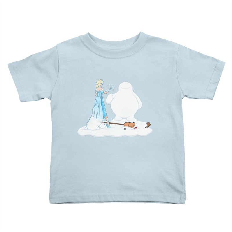 The True Magic Behind Frosty Kids Toddler T-Shirt by jordan's Artist Shop