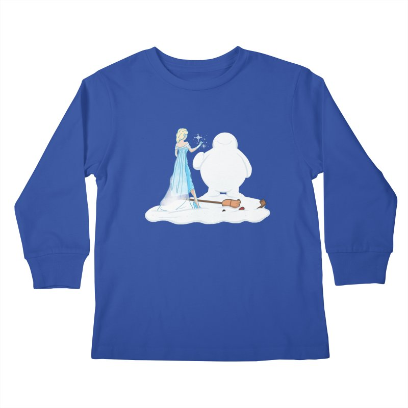 The True Magic Behind Frosty Kids Longsleeve T-Shirt by jordan's Artist Shop