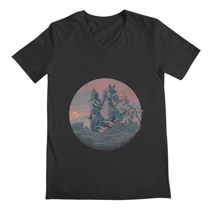 Amazonian Sunset Men's Regular V-Neck by jordan's Artist Shop