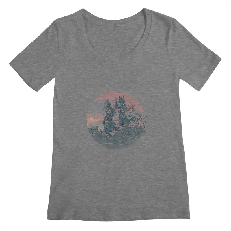 Amazonian Sunset Women's Scoopneck by jordan's Artist Shop
