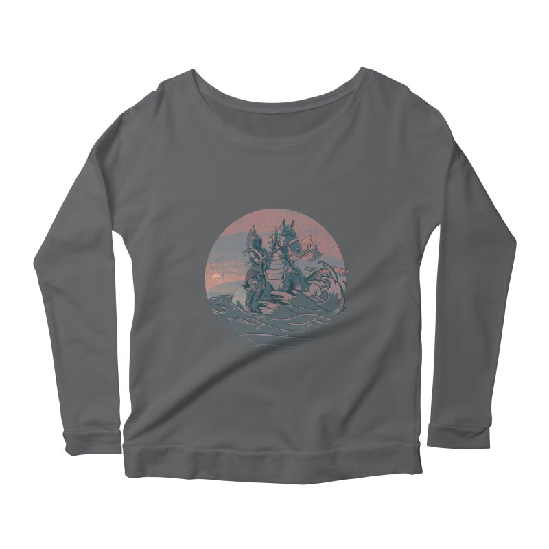 Amazonian Sunset Women's Longsleeve Scoopneck  by jordan's Artist Shop