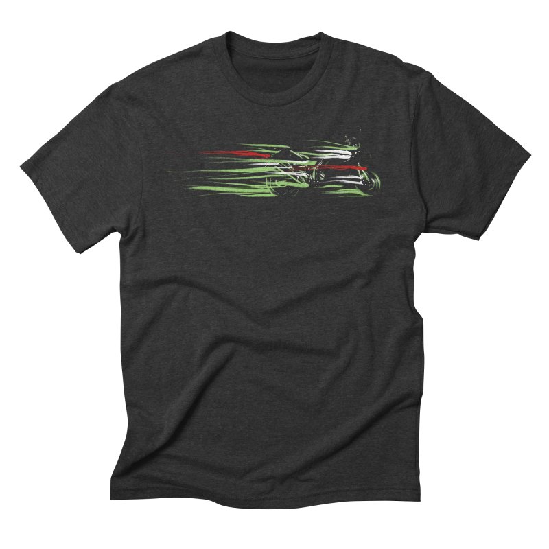 Night Lights Men's Triblend T-shirt by jordan's Artist Shop