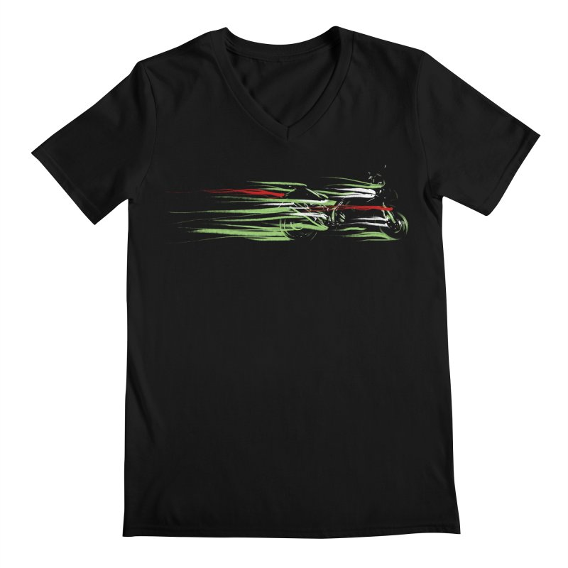 Night Lights Men's V-Neck by jordan's Artist Shop