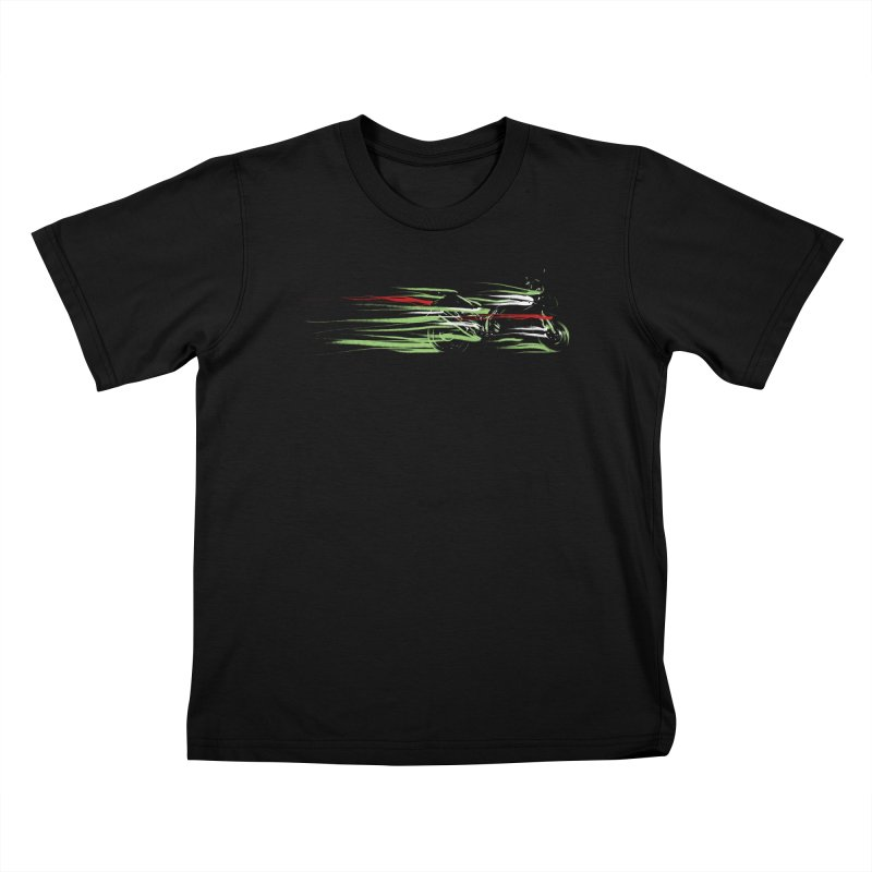 Night Lights Kids T-Shirt by jordan's Artist Shop