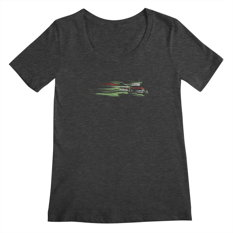 Night Lights Women's Scoopneck by jordan's Artist Shop