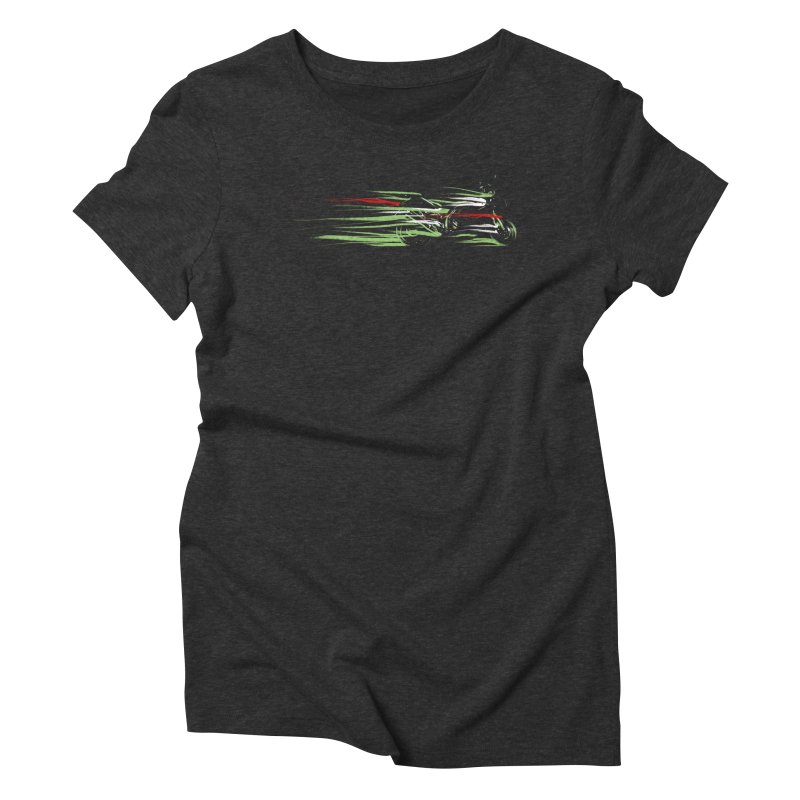 Night Lights Women's Triblend T-Shirt by jordan's Artist Shop