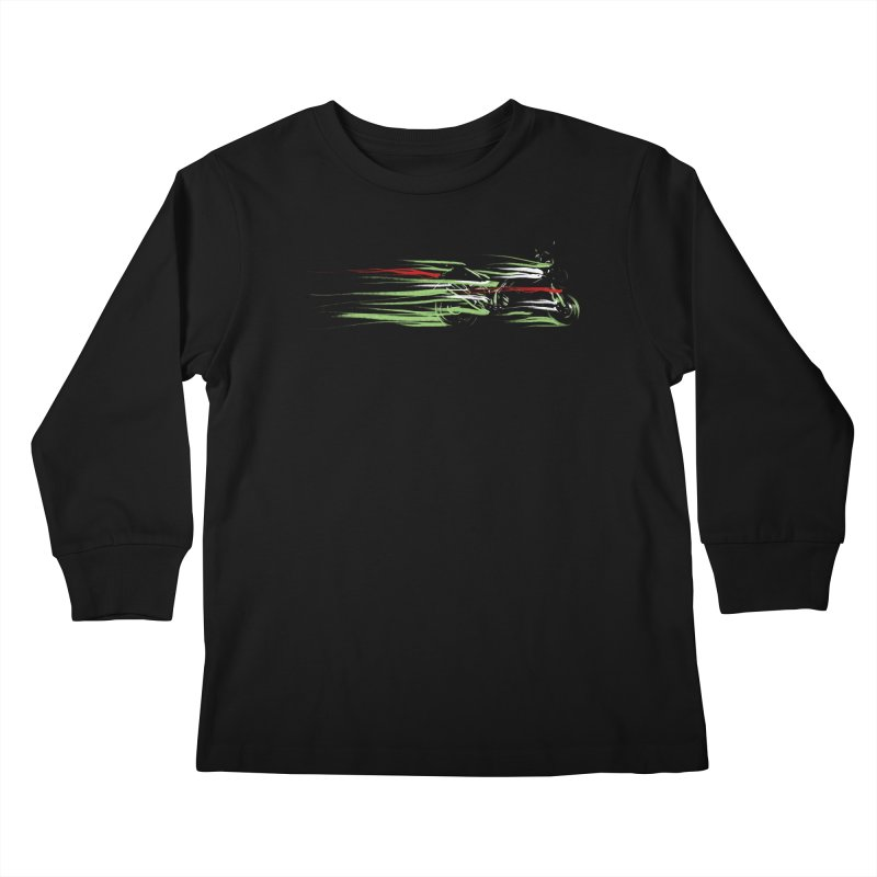 Night Lights Kids Longsleeve T-Shirt by jordan's Artist Shop