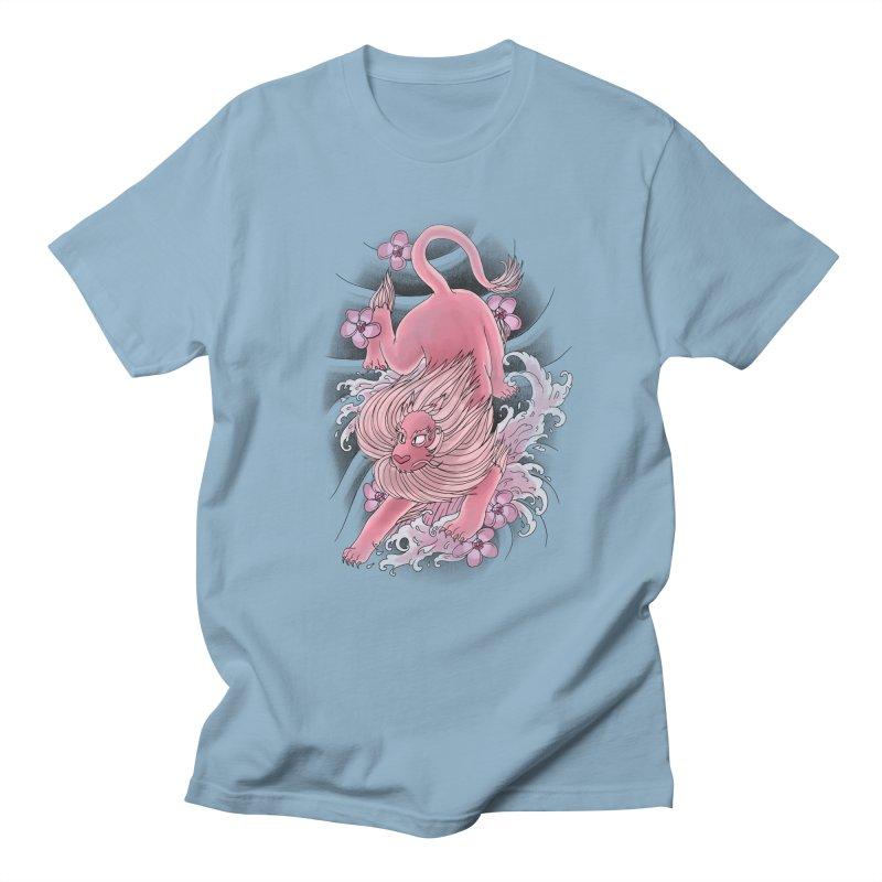 Pink Lion Men's T-shirt by jordan's Artist Shop