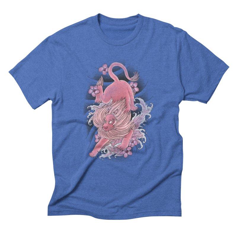 Pink Lion Men's Triblend T-Shirt by jordan's Artist Shop