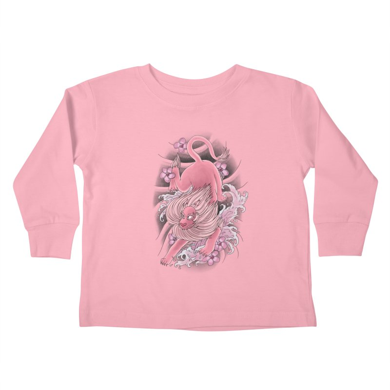 Pink Lion Kids Toddler Longsleeve T-Shirt by jordan's Artist Shop