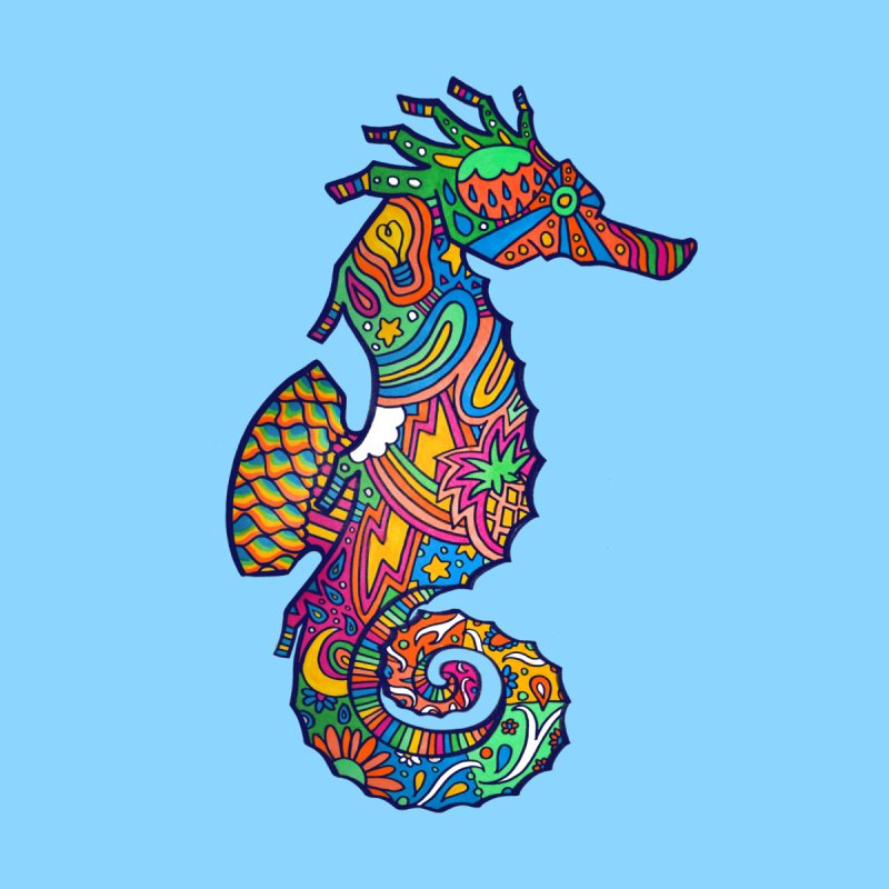 Seahorse Dream Kids T-Shirt by jordan's Artist Shop