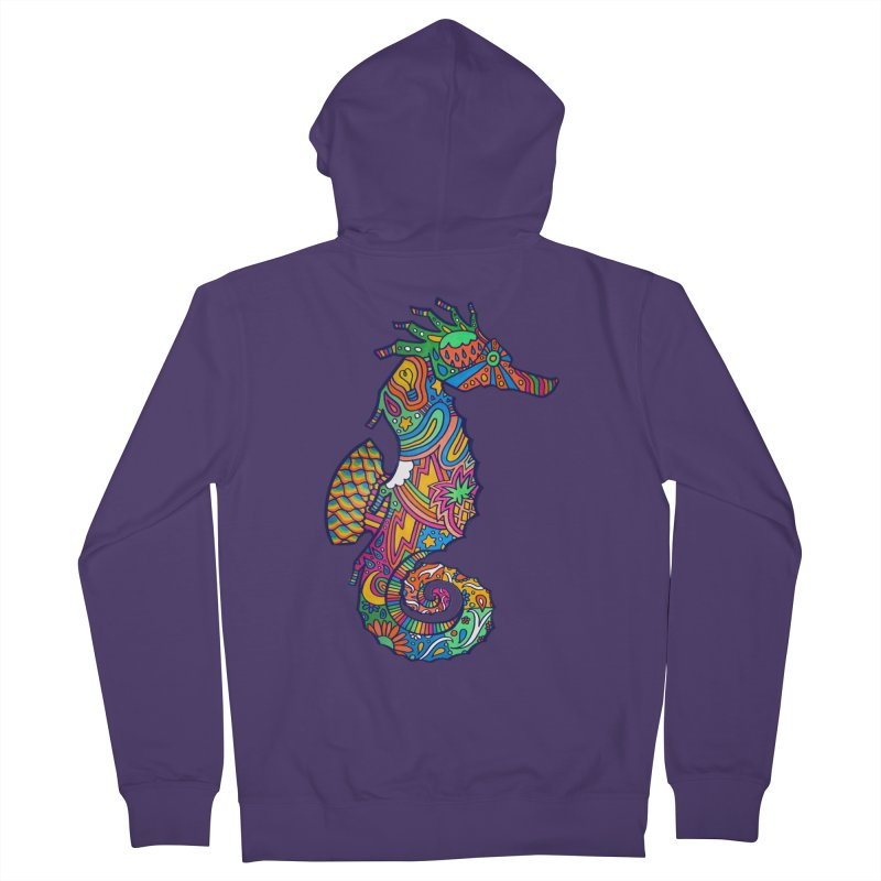 Seahorse Dream Women's French Terry Zip-Up Hoody by jordan's Artist Shop