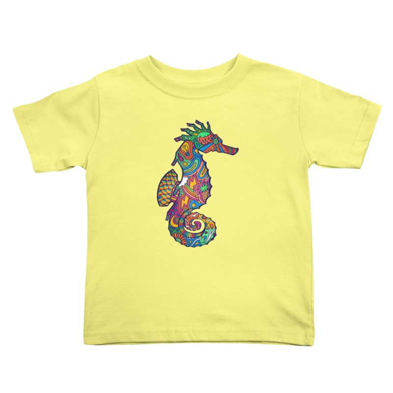 Seahorse Dream Kids Toddler T-Shirt by jordan's Artist Shop