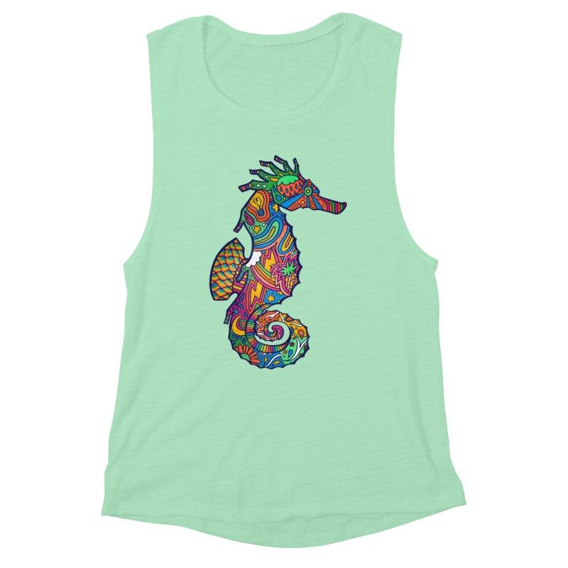 Seahorse Dream Women's Muscle Tank by jordan's Artist Shop