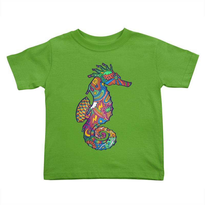 Seahorse Dream Kids Toddler T-Shirt by jordan's Artist Shop