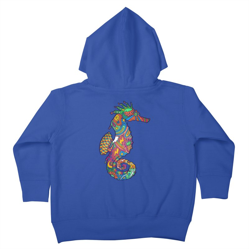 Seahorse Dream Kids Toddler Zip-Up Hoody by jordan's Artist Shop