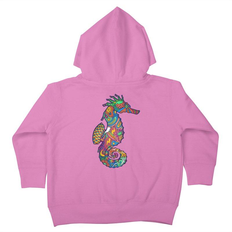 Seahorse Dream Kids Toddler Zip-Up Hoody by jordan's Artist Shop
