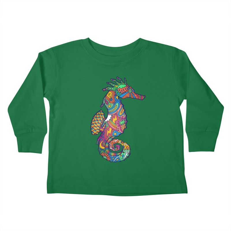 Seahorse Dream Kids Toddler Longsleeve T-Shirt by jordan's Artist Shop