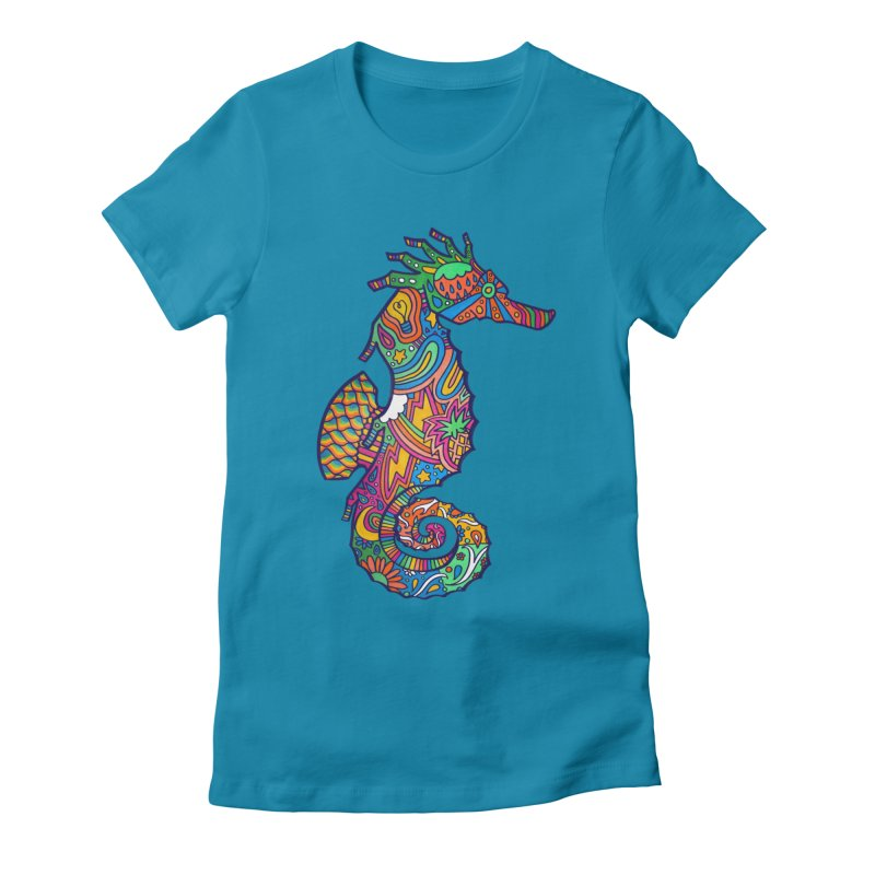 Seahorse Dream Women's Fitted T-Shirt by jordan's Artist Shop