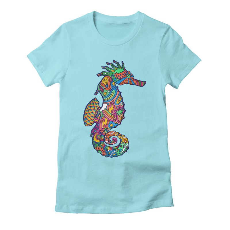 Seahorse Dream Women's Fitted T-Shirt by jordan's Artist Shop