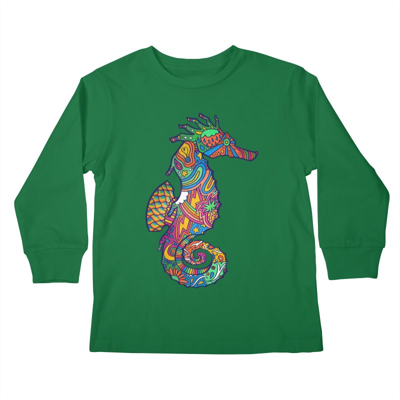Seahorse Dream Kids Longsleeve T-Shirt by jordan's Artist Shop