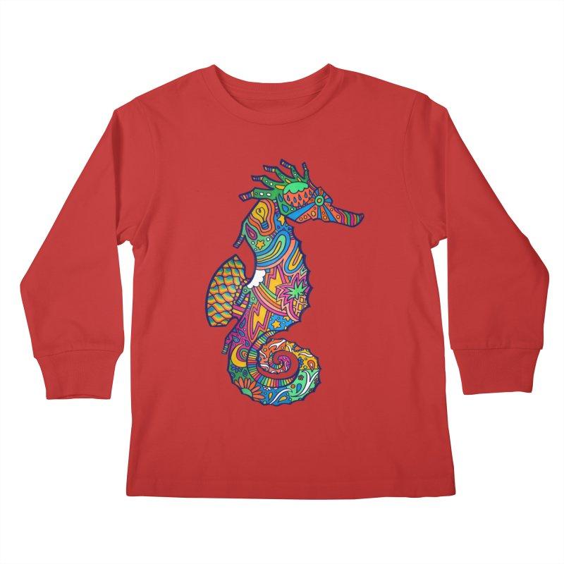 Seahorse Dream Kids Longsleeve T-Shirt by jordan's Artist Shop