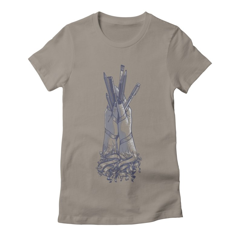 Artist Hands Women's Fitted T-Shirt by jordan's Artist Shop