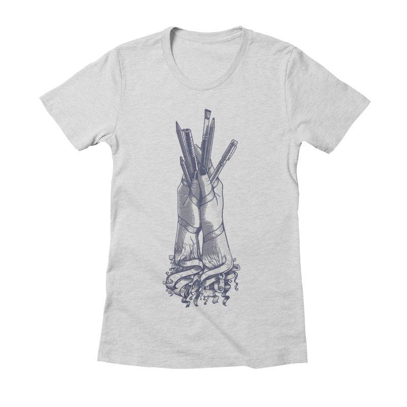 Artist Hands Women's Fitted T-Shirt by jordan's Artist Shop