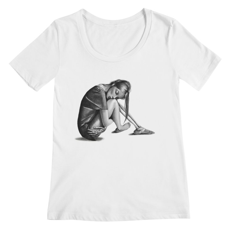 The Left Behinds Women's Regular Scoop Neck by jordan's Artist Shop