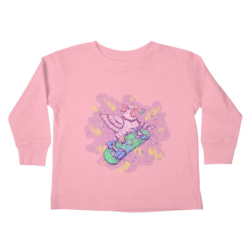 Cheepskate Kids Toddler Longsleeve T-Shirt by jordan's Artist Shop